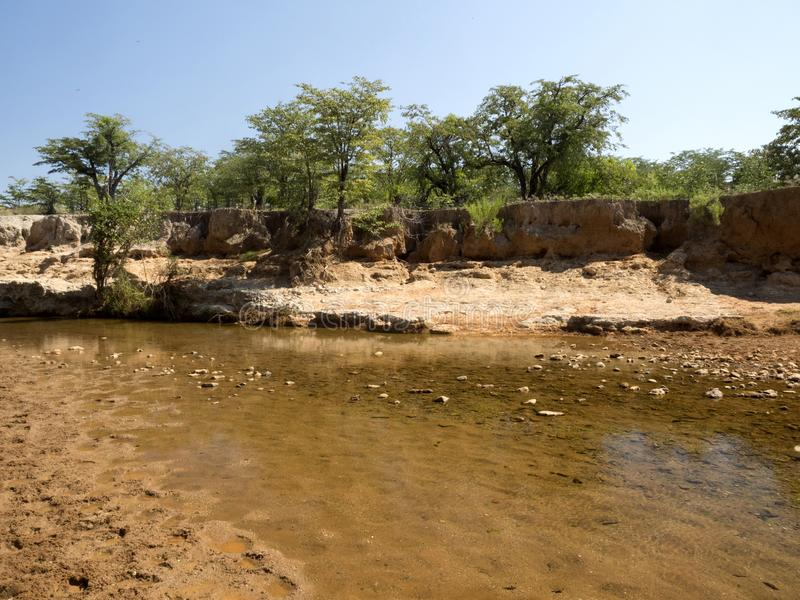 Landscape along the Kunene River, North Namibia. The Landscape along the Kunene River, North Namibia royalty free stock image