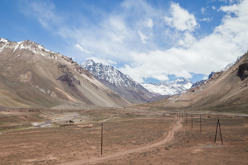 Landscape along National Route 7 in Argentina stock images