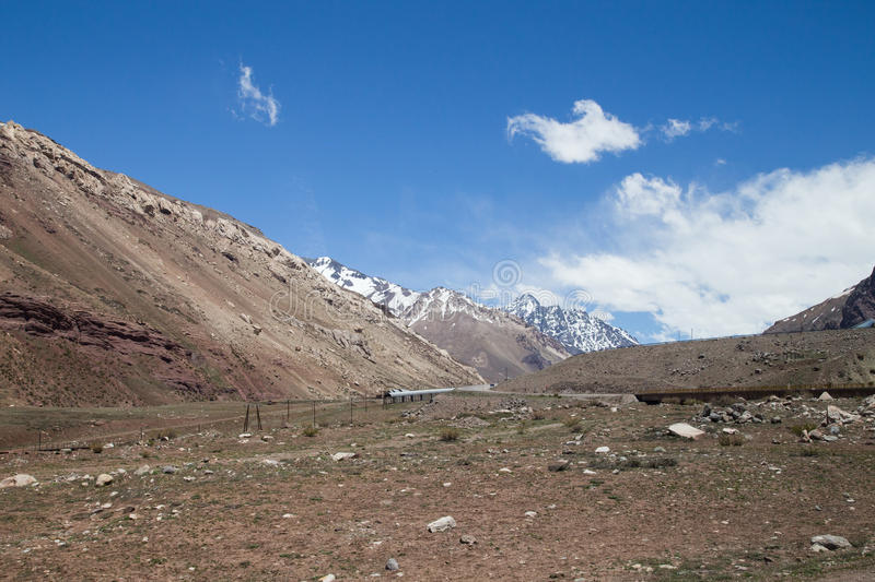 Landscape along National Route 7 in Argentina stock image