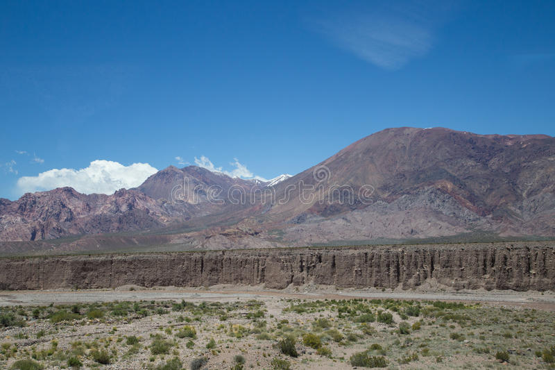 Landscape along National Route 7 in Argentina royalty free stock images