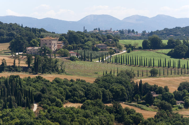 Landscape from Amelia (Umbria, Italy) royalty free stock photography