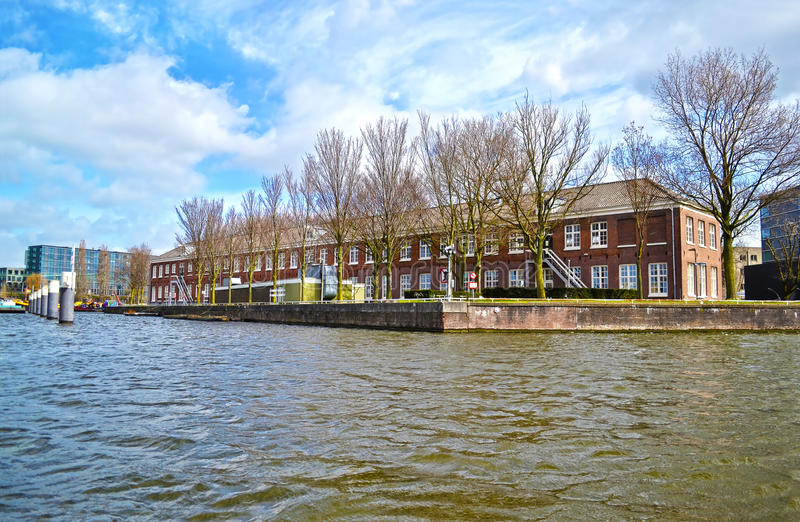 Landscape of Amsterdam Holland royalty free stock photos