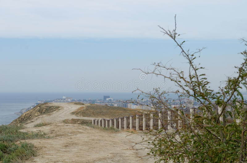 Landscape in Anapa. Russian Federation royalty free stock photography