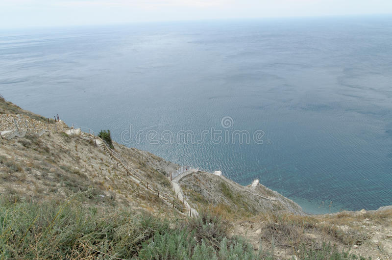 Landscape in Anapa. South of Russian Federation royalty free stock image