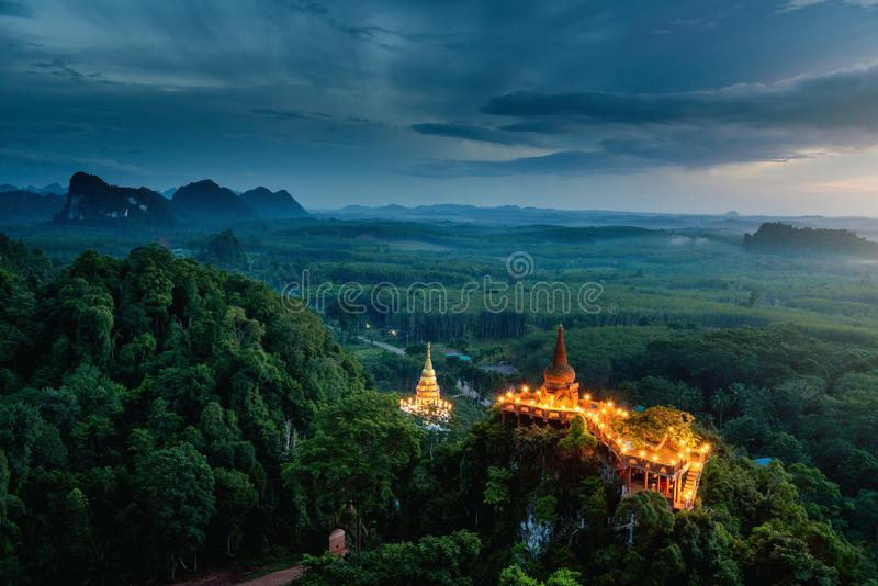 Landscape of Ancient Pagoda and Heritage Architecture at Sunrise. Spirit of Asia royalty free stock photos