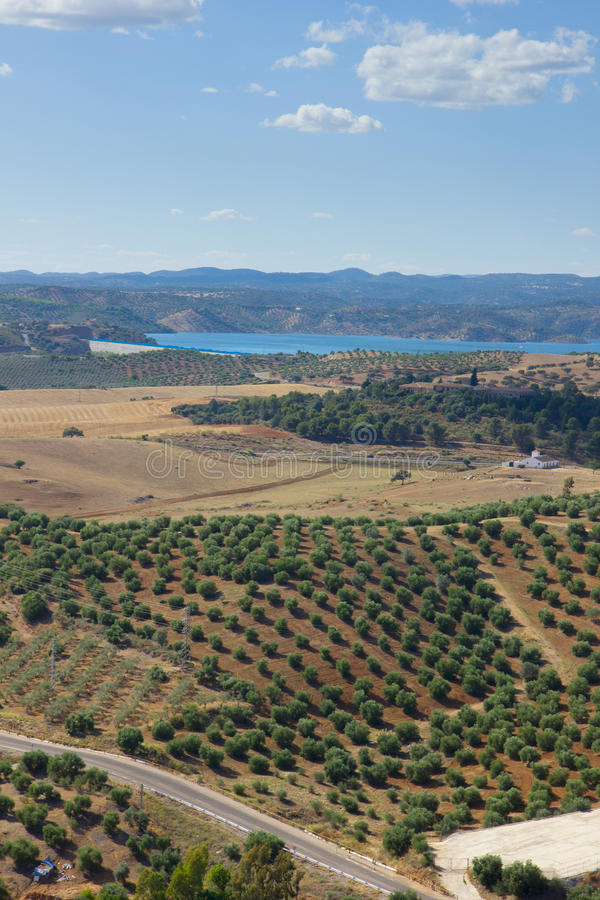 Landscape of Andalusia, Spain royalty free stock photo