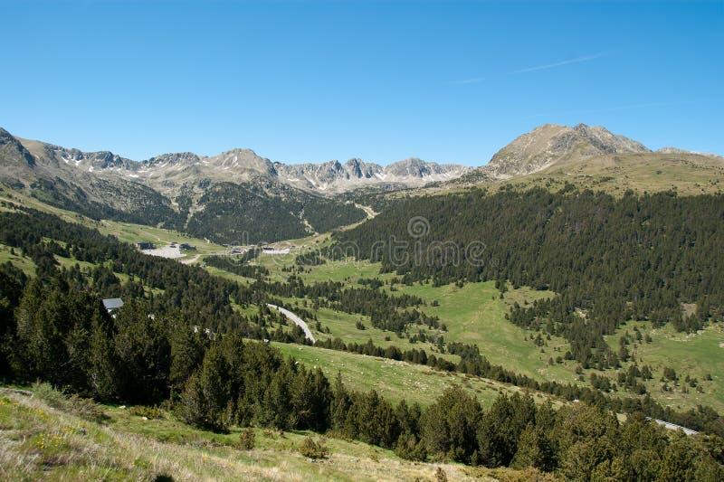 Landscape of Andorra Pyrenees royalty free stock photo