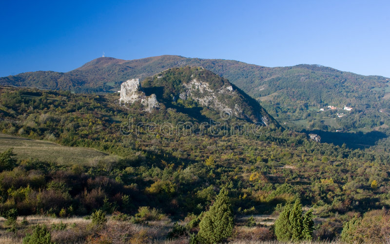 Landscape of Apennines. Countryside in Apennines of Italy royalty free stock photos