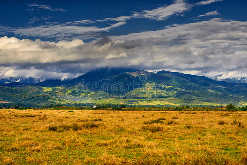 Landscape from Apuseni mountains. Golden hour panorama landscape from Apuseni mountains, Romania stock photos