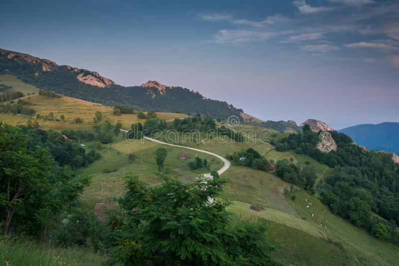 Landscape in Apuseni Mountains, Transylvania, Romania stock photo