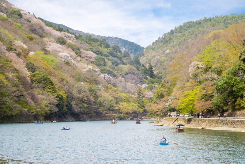Landscape of arashiyama, kyoto, japan royalty free stock image