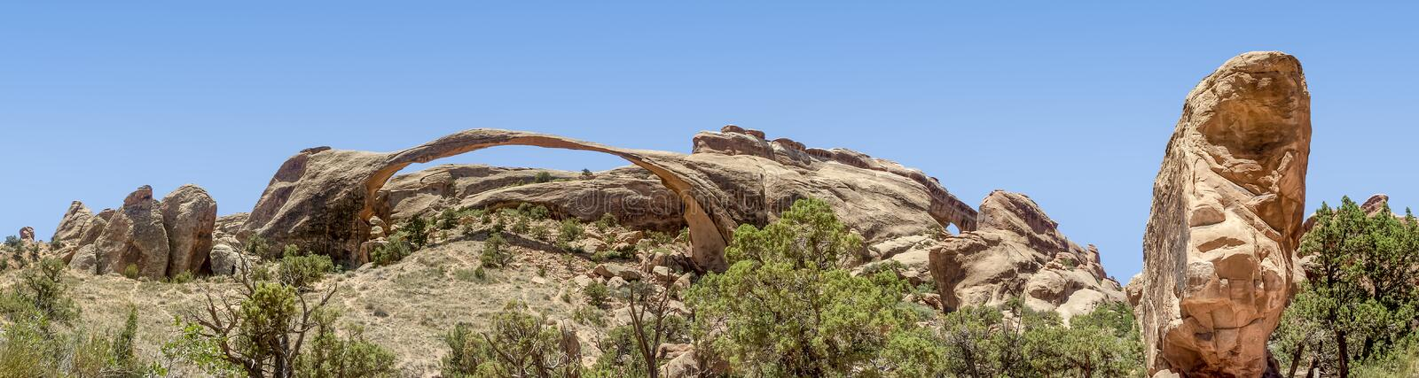Landscape Arch Panorama - Arches National Park stock photos