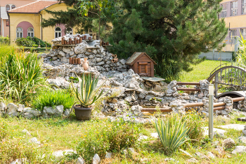 Landscape architecture in Church of St. Nicholas in the city of Leskovac, Serbia stock photography