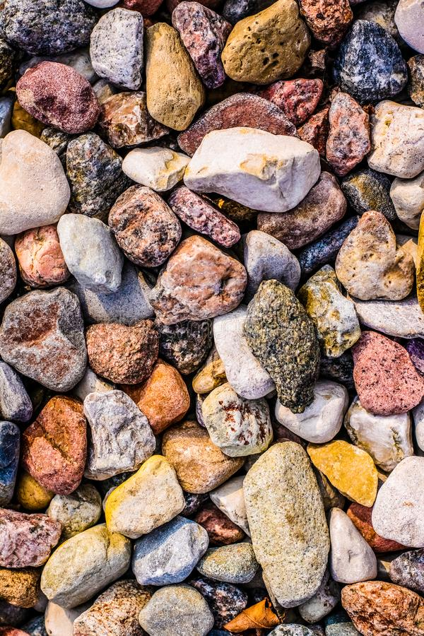 Stone pebbles background texture, landscape architecture. Landscape architecture, interior design and nature elements concept - Stone pebbles background texture royalty free stock photography