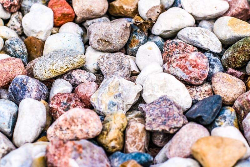 Stone pebbles background texture, landscape architecture. Landscape architecture, interior design and nature elements concept - Stone pebbles background texture stock photo