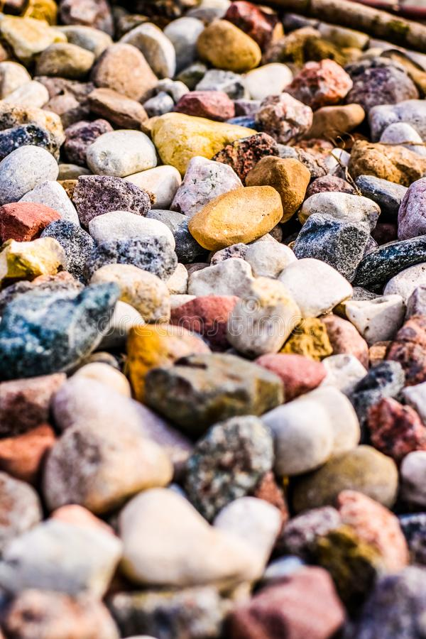 Stone pebbles background texture, landscape architecture. Landscape architecture, interior design and nature elements concept - Stone pebbles background texture royalty free stock images