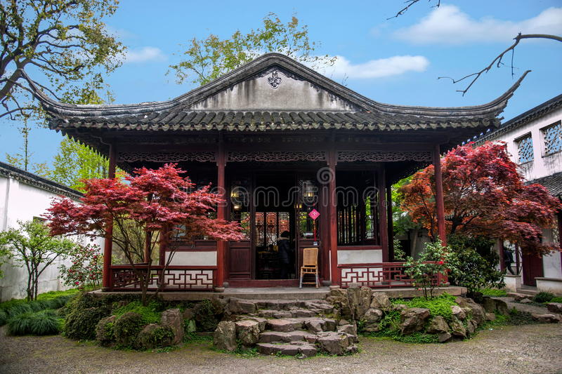 Landscape Architecture of Suzhou Digging Garden stock images