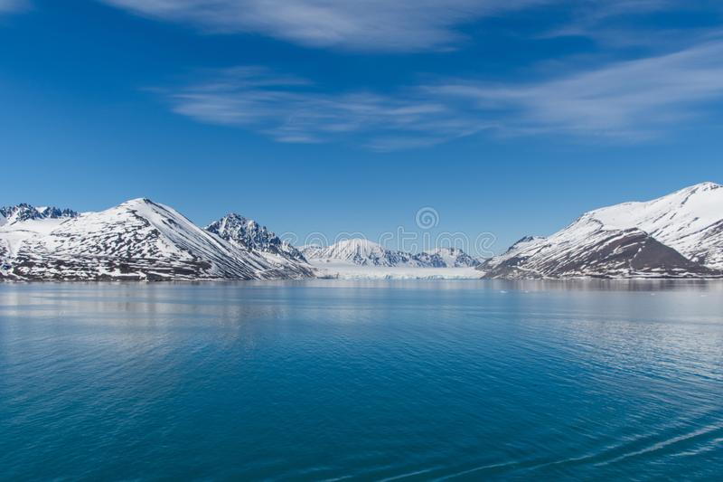 Arctic Landscape, Svalbard Island, Norway 2018 royalty free stock images