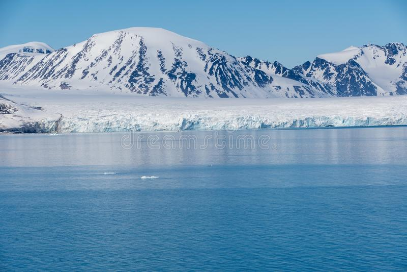 Arctic Landscape, Svalbard Island, Norway 2018 stock images