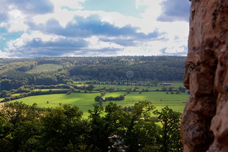 Landscape Ardennes, Wallonia, Belgium royalty free stock images