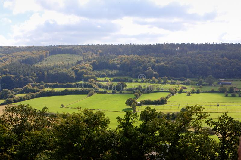 Landscape Ardennes, Wallonia, Belgium royalty free stock photography