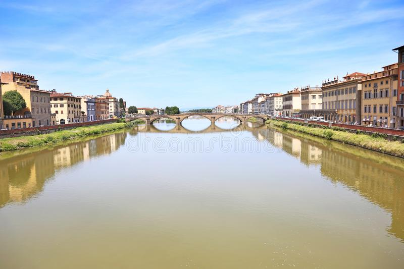 Landscape of Arno river at Florence city Italy royalty free stock images