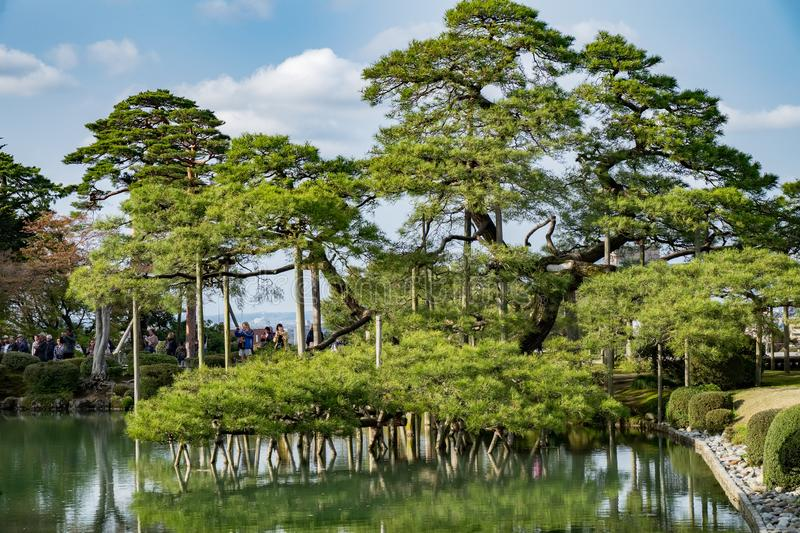 Landscape around Kenrokuen garden one of the most beautiful landscape gardens in Japan, Locate in Kanazawa city. Landscape around Kenrokuen garden one of the royalty free stock photos