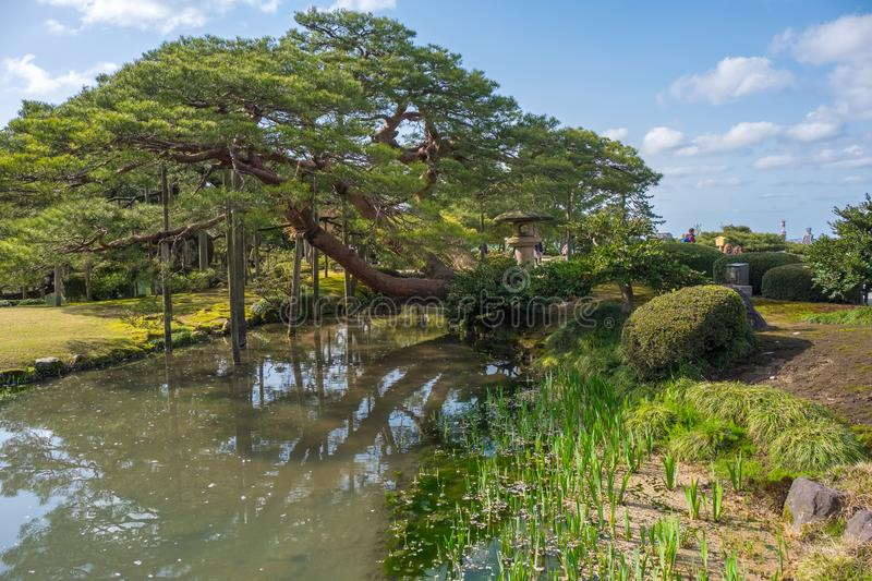 Landscape around Kenrokuen garden one of the most beautiful landscape gardens in Japan, Locate in Kanazawa city. Landscape around Kenrokuen garden one of the royalty free stock image