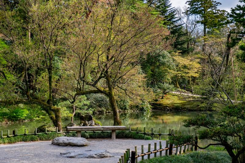 Landscape around Kenrokuen garden one of the most beautiful landscape gardens in Japan, Locate in Kanazawa city. Landscape around Kenrokuen garden one of the stock images