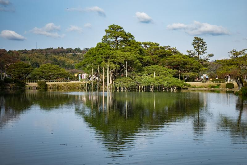 Landscape around Kenrokuen garden one of the most beautiful landscape gardens in Japan, Locate in Kanazawa city. Landscape around Kenrokuen garden one of the stock photo
