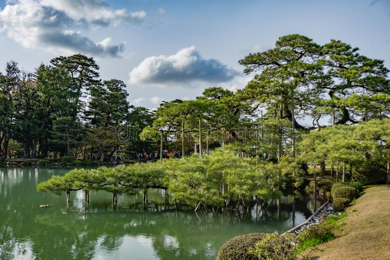 Landscape around Kenrokuen garden one of the most beautiful landscape gardens in Japan, Locate in Kanazawa city. Landscape around Kenrokuen garden one of the stock photos