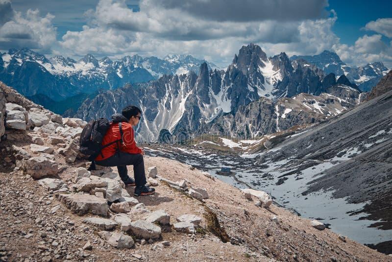 The landscape around Tre Cime di Lavaredo, Dolomites, Italy royalty free stock photos