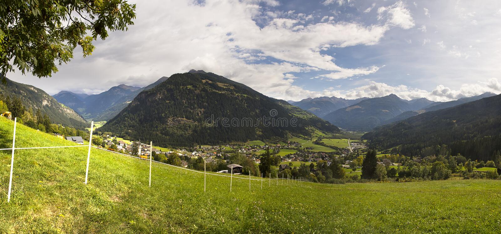 Landscape of Austrian Alps royalty free stock photography