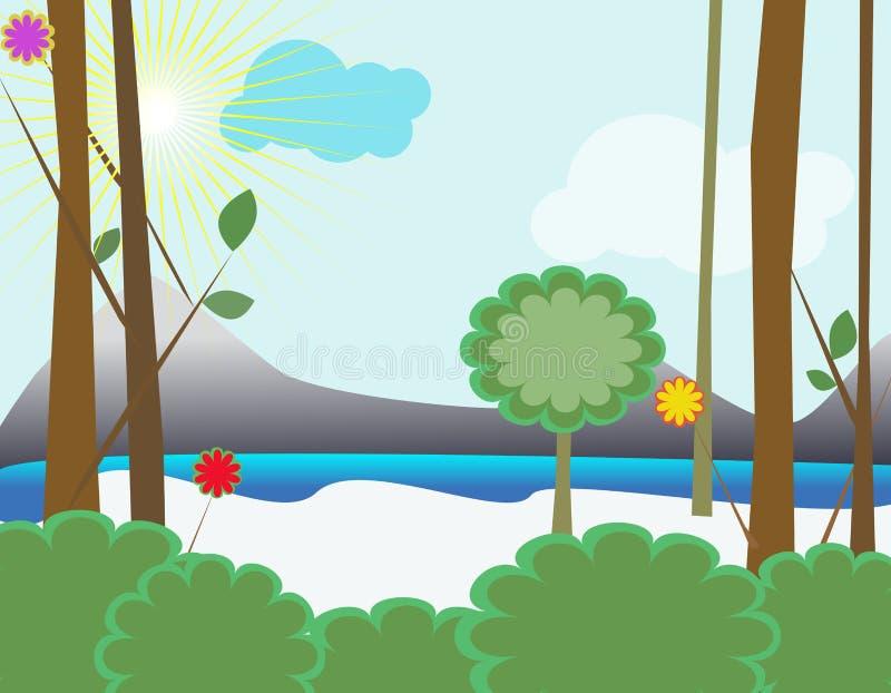 Download Landscape background stock vector. Image of cloud, landscape - 12725297