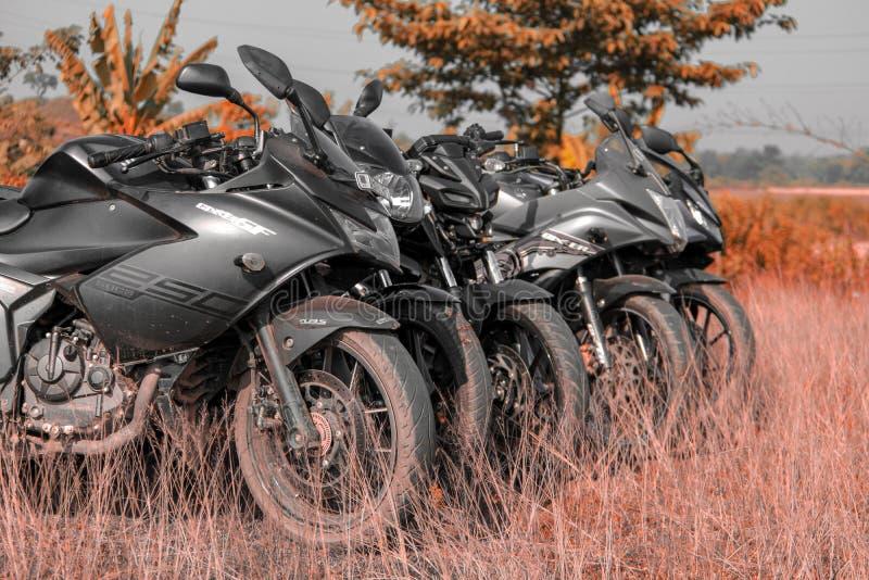 Landscape background of attitude bikes stock image