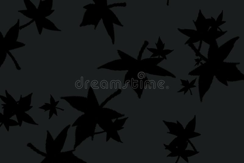 Landscape background of dark leaves royalty free illustration