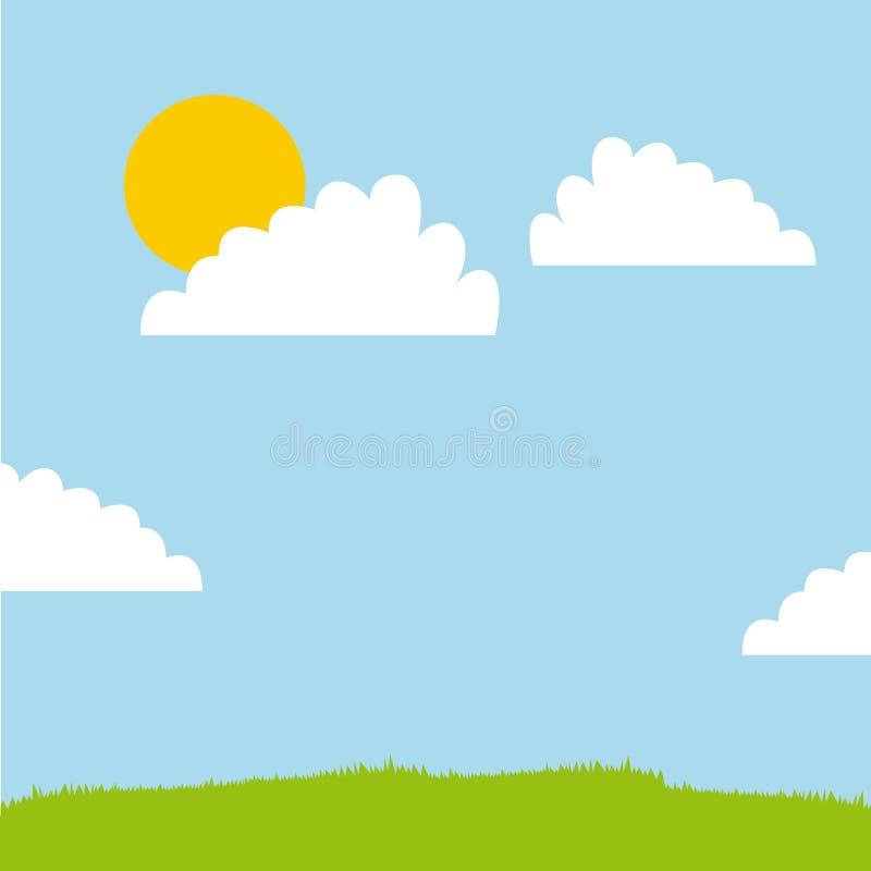 Landscape background design. Colorful design illustration stock image