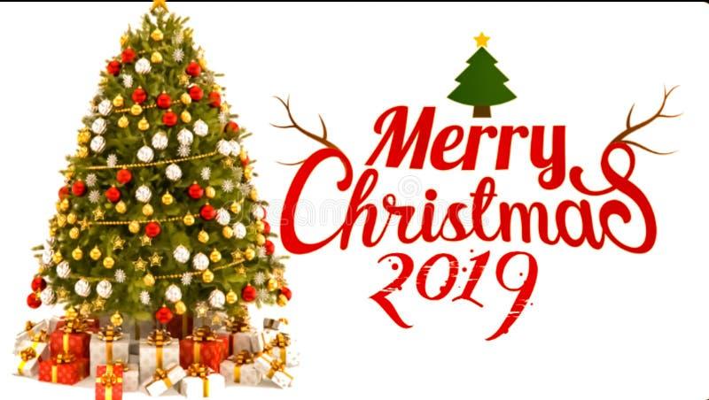 Landscape background of Merry Christmas celebration 2019 vector illustration