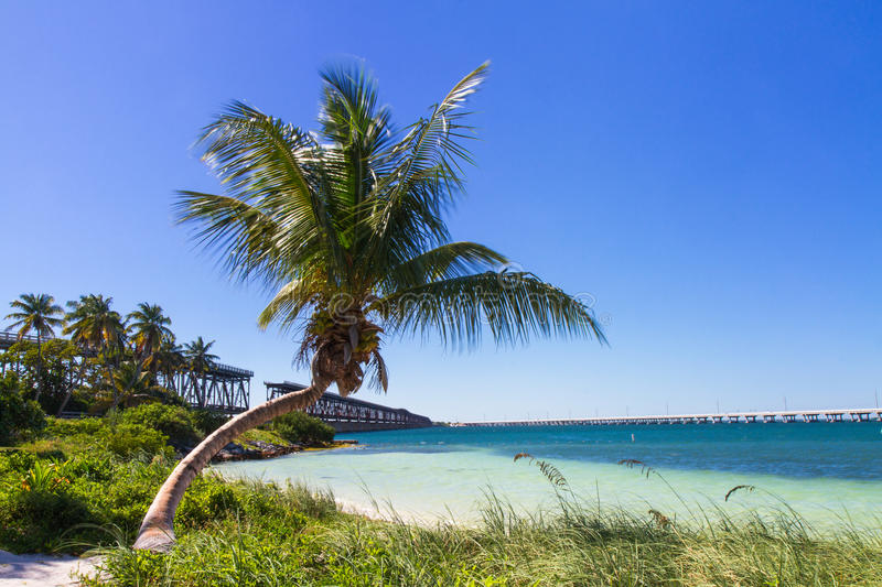 Landscape at Bahia Honda Beach. Florida Keys, USA royalty free stock image