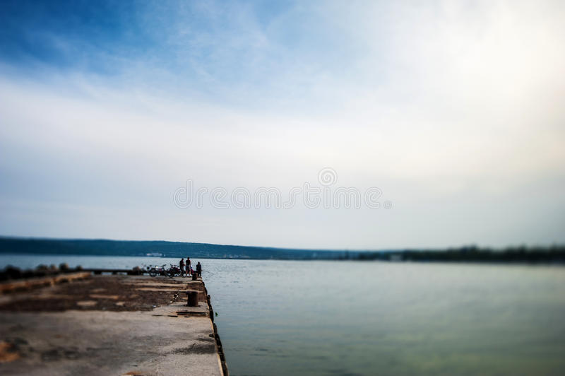 Landscape and Balck Sea in Bulgaria. Tilt Shift Lens in Use. Landscape and Balck Sea in Bulgaria royalty free stock images