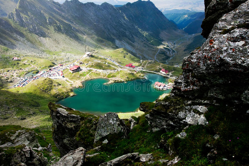 Landscape from Balea Lake in Romania. Landscape from Balea Lake, Fagaras Mountains, Romania in the summer royalty free stock photo