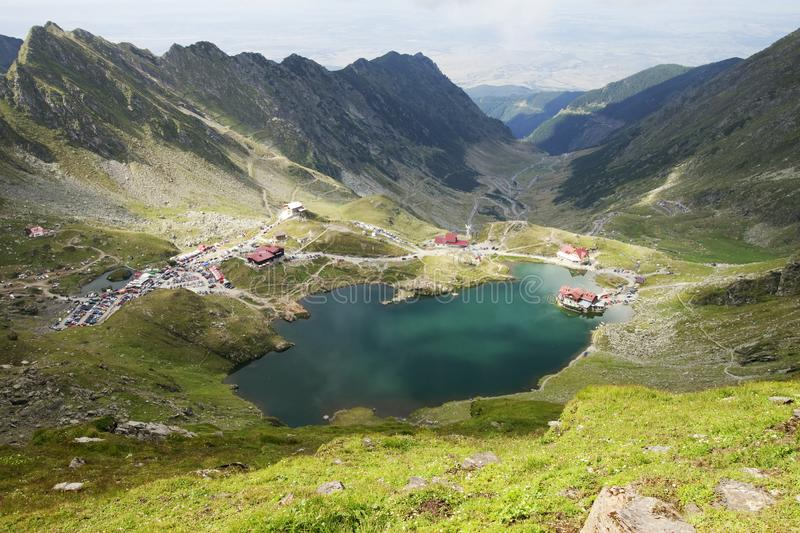 Landscape from Balea Lake in Romania stock image