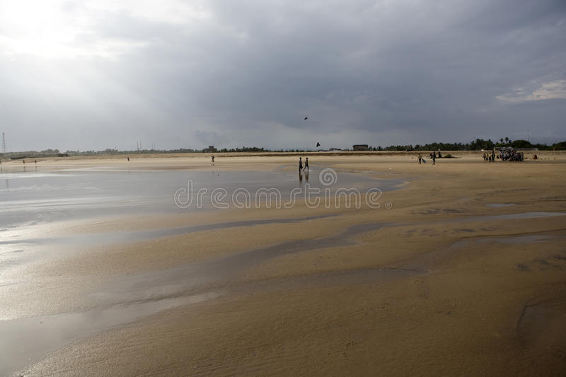 Landscape of the beach in Gopalpur on-Sea. stock images