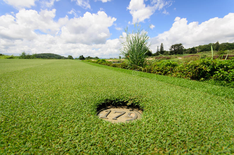 Download Landscape Of A Beautiful Green Golf Stock Image - Image of clear, game: 27078217