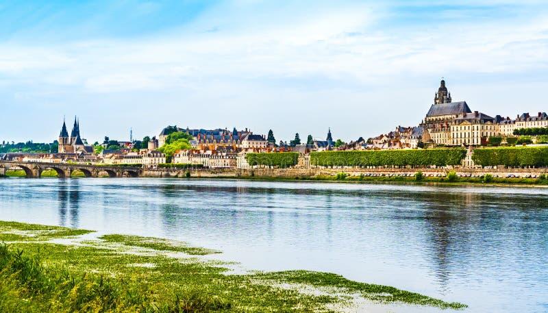 Landscape of Blois skyline, France stock photography