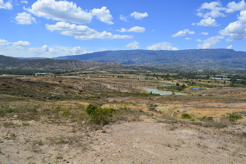 Landscape Blue lakes desert in Boyaca Colombia royalty free stock photos