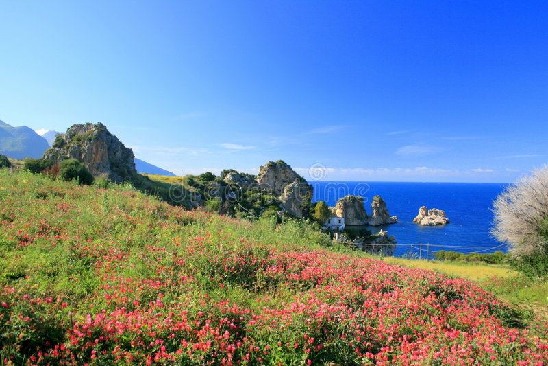 Landscape, Blue Mediterraneo stock image