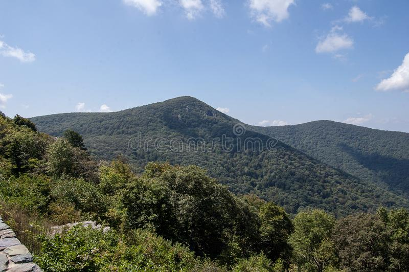 Landscape in the Blue Ridge Mountains stock image