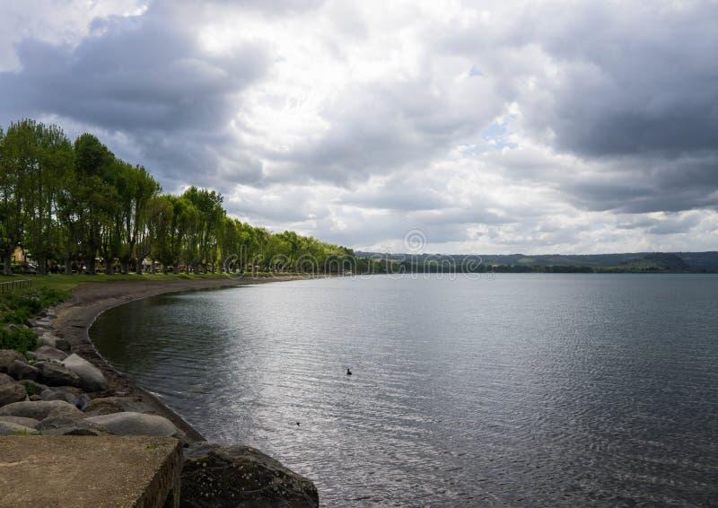 Landscape of bolsena lake, Italy. Beautiful Landscape of bolsena lake stock images