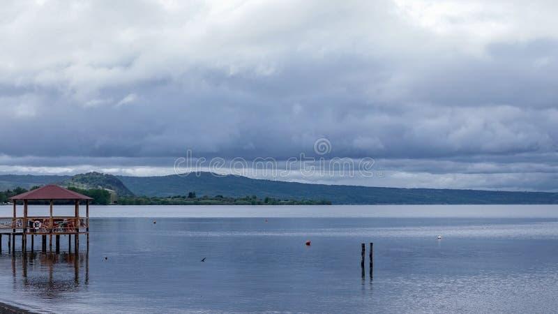 Landscape of the bolsena Lake, Italy. Photo of bolsena lake, Viterbo. Italy stock images